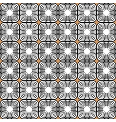 Design seamless monochrome tetragon pattern vector