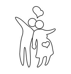 family pictogram symbol vector image