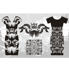 Fashion dress with a pattern vector image vector image