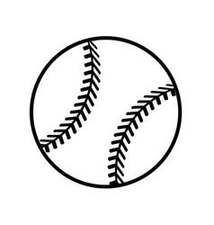 Figure ball to play baseballl icon vector
