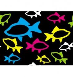 fish seamless vector image