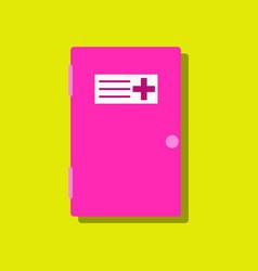 flat icon design collection doctors door in vector image