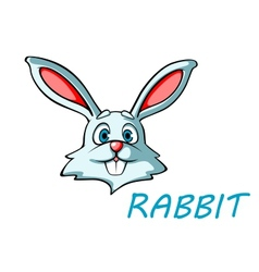 Funny cartoon rabbit or hare vector image