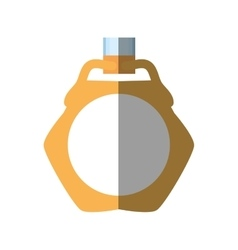 Gold wedding ring icon shadow vector