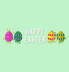 Happy easter spring banner design for celebration vector