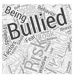Is your child at risk of being bullied word cloud vector