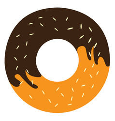 isolated doughnut icon vector image vector image