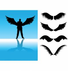 man with wings vector image vector image
