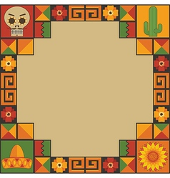 mexican frame decoration vector - Mexican Frame