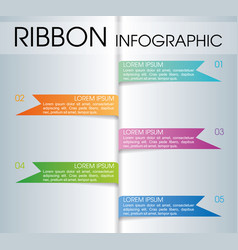 Modern colorful ribbon infographics vector