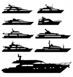 motor yacht vector image vector image
