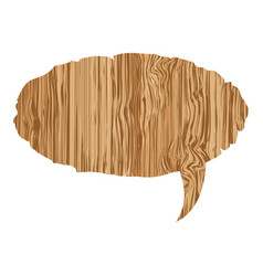 oval wood chat bubble icon vector image