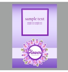 Poster in floral style vector image