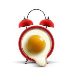 Red alarm clock egg vector