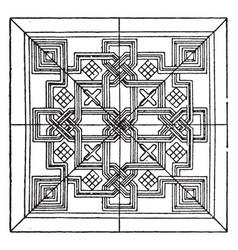Renaissance square panel is a venetian 15th vector