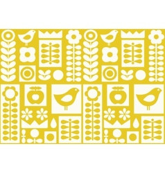 Scandinavian folk ornament vector image vector image