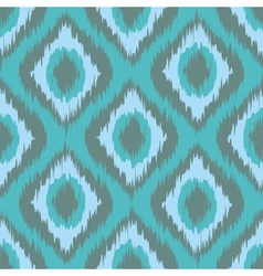 Seamless pattern tribal art ikat ogee in vector