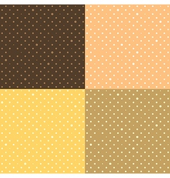 Set orange yellow star polka dot vector