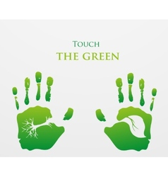Think Green Ecology Concept vector image vector image