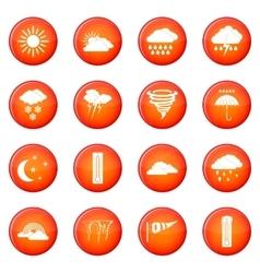 Weather set icons set vector