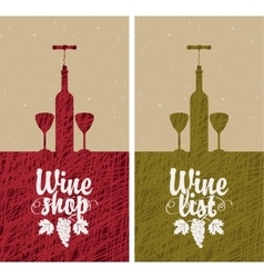 wine list and shop vector image vector image