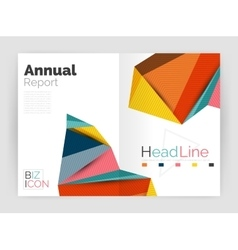 Low poly annual report vector