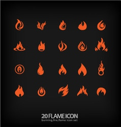 Flame icons 2 vector