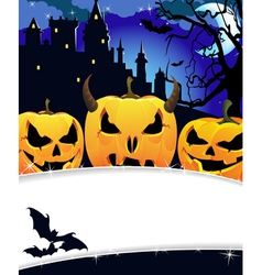 Night Haunted Castle vector image