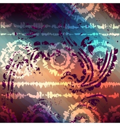 Tie-dye grunge pattern with transparency vector image