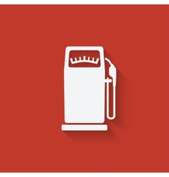 Gasoline pump vector