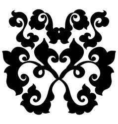 Ornamental damask element vector image