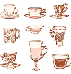 Cups icon set vector