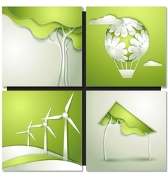 Eco background -go green vector