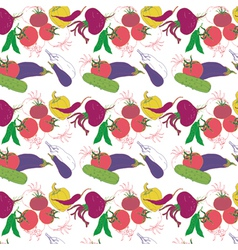 vegetables pattern background vector image