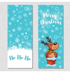 Merry christmas design vertical background set vector