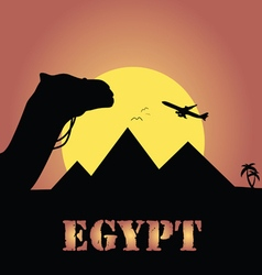 Egypt trip in colorful vector