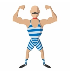 Strong man cartoon vector