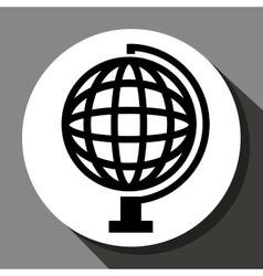 World sphere icon vector