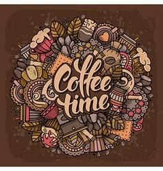 Coffee Doodle Design vector image