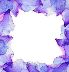 Watercolor seamless pattern with purple flower vector