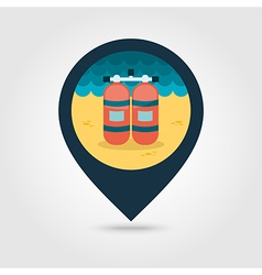 Oxygen tank pin map icon summer vacation vector