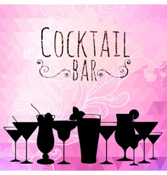 Cocktail triangle background vector