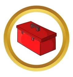Construction suitcase icon vector