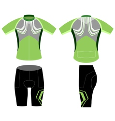 Cycling vest greenish style vector