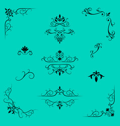 Decorative design elements border and page rules vector