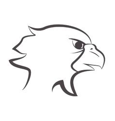 eagle emblem icon vector image vector image