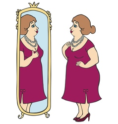 Fat lady vector image vector image