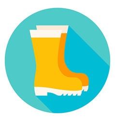 Garden boots circle icon vector