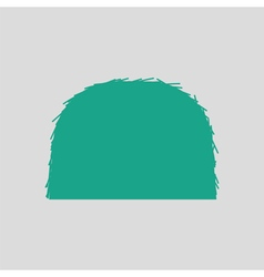 Hay stack icon vector