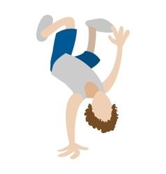 Hip hop break dancer icon vector